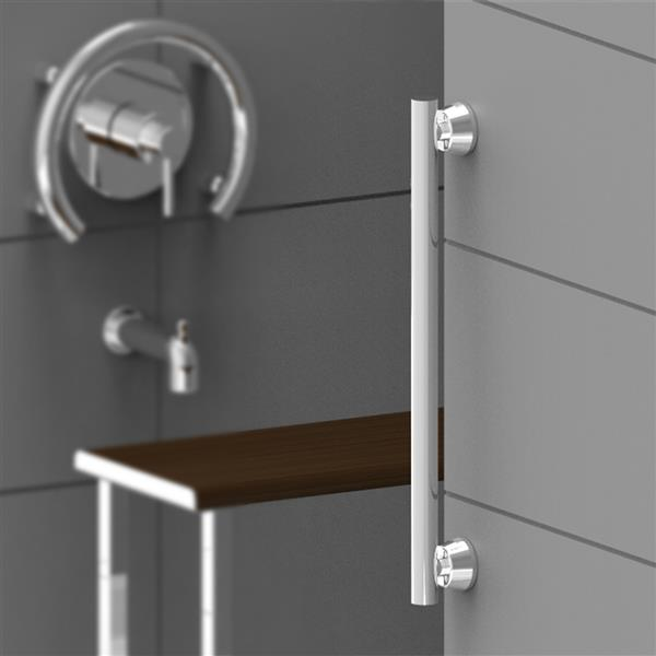 Invisia Collection 12-in Polished Chrome Linear Bar