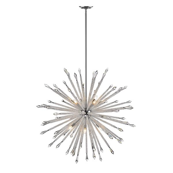 Z-Lite Soleia Chrome And Crystal 12-Light Chandelier