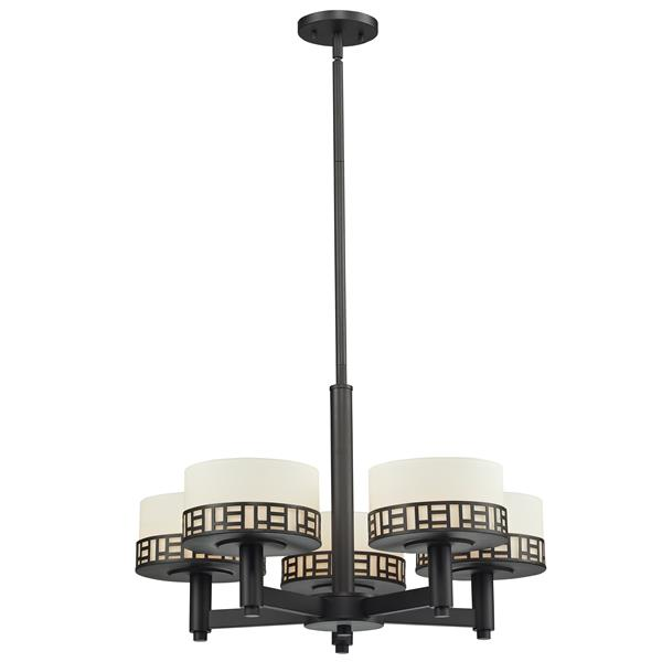 Z-Lite Elea 24-in x 15.13-in Bronze 5-Light Chandelier