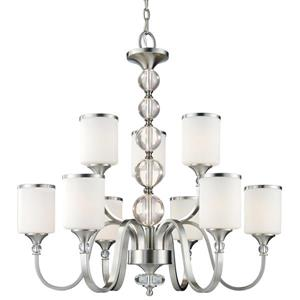 Z-Lite Cosmopolitan Brushed Nickel 9-Light Chandelier