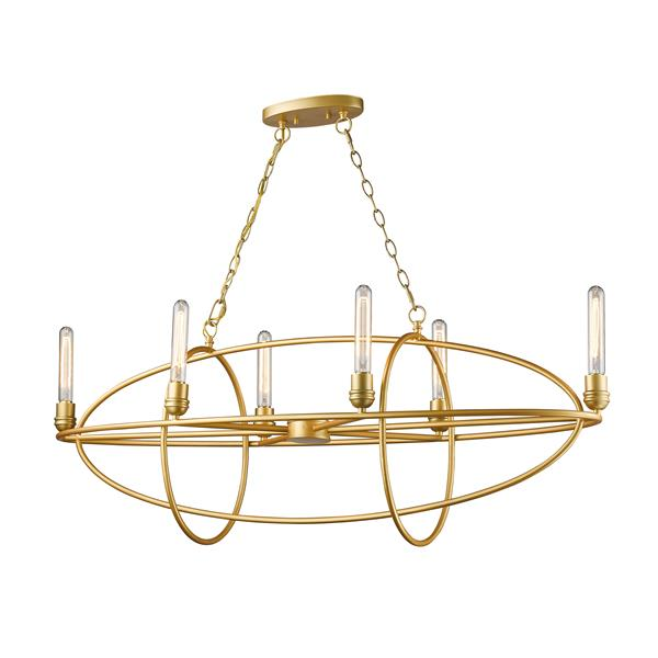 Z-Lite Persis 6-Light Satin Gold Chandelier
