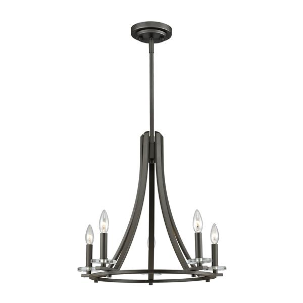 Z-Lite Verona 22-in x 22-in x 20.75-in Bronze 5-Light Chandelier