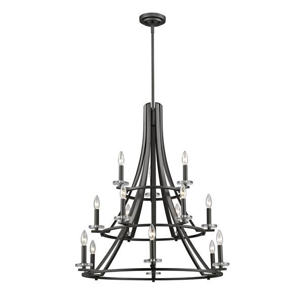 Z-Lite Verona 32-in x 32-in x 35-in Bronze 15-Light Chandelier