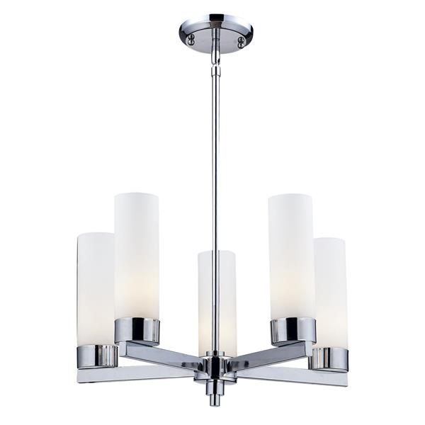 Z-Lite Ibis 20-in x 11-in Chrome 5-Light Chandelier