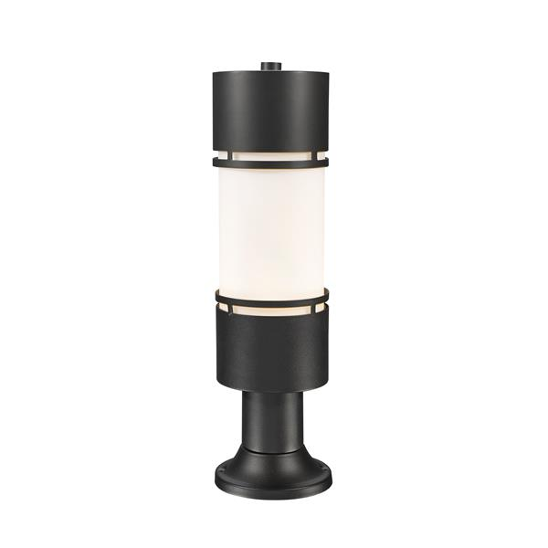 Z-Lite Luminata Outdoor LED Post Mount Light with Pier Mount