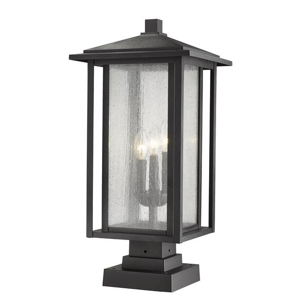 Z-Lite Aspen 3 Light Outdoor Pier Mounted Fixture - Black