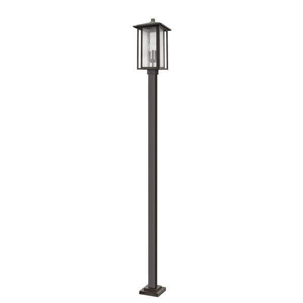 Z-Lite Aspen 3 Light Outdoor Post Mounted Fixture - Bronze