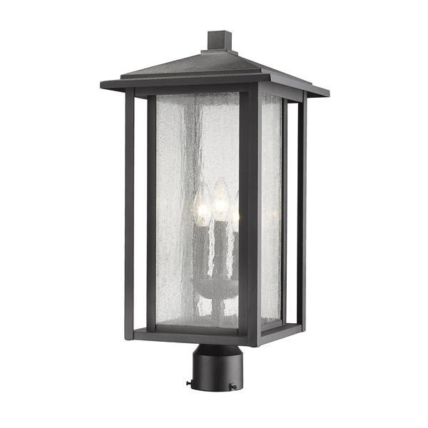 Luminaire extérieur pour poteau Aspen, 3 lumières, Noir