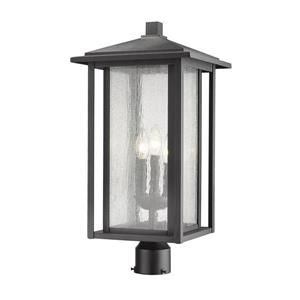 Z-Lite Aspen 3 Light Outdoor Post Mount Fixture - Black