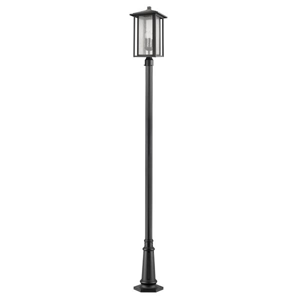 Z-Lite Aspen 3 Light Outdoor Post Mounted Fixture - Black