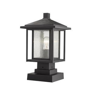 Luminaire extérieur sur socle Aspen, 1 lumière, Noir