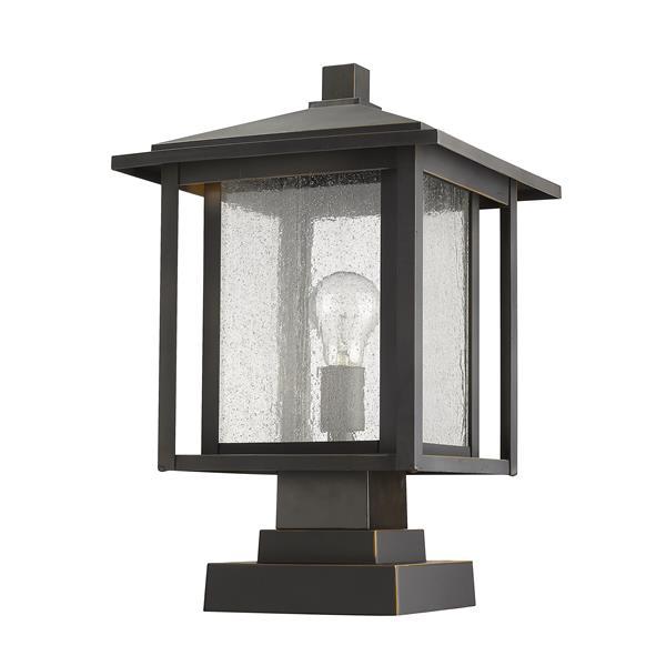 Luminaire extérieur sur socle Aspen, 1 lumière, Bronze