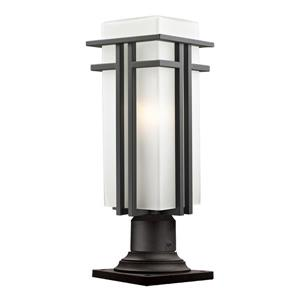 Z-Lite Abbey Outdoor Pier Mount Light - Outdoor Rubbed Bronze