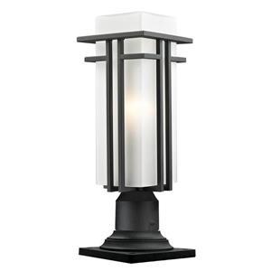 Z-Lite Abbey Outdoor Pier Mount Light - Black - 6.63-in x 19-in