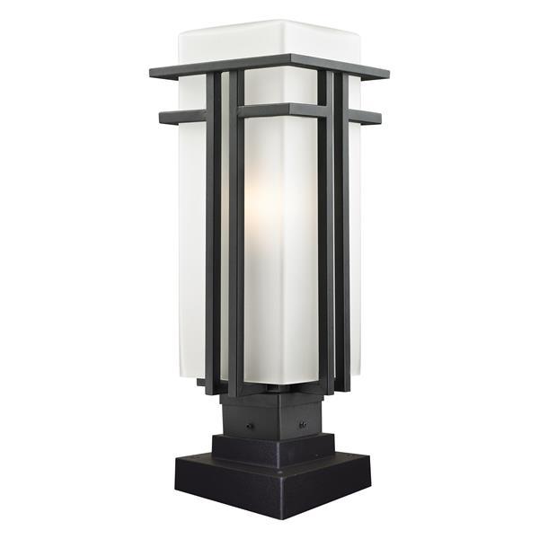 Z-Lite Abbey Outdoor Pier Mount Light - Black - 7.75-in x 20.25-in