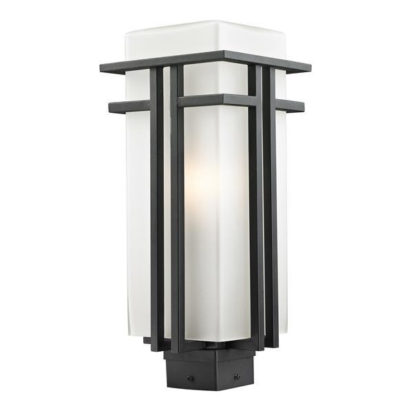 Z-Lite Abbey Outdoor Post Light - Black - 7.75-in x 19.25-in