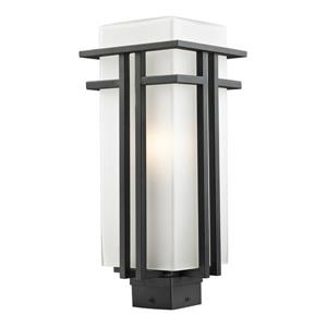 Z-Lite Abbey Outdoor Post Light - Black - 7.75-in x 19.25-in