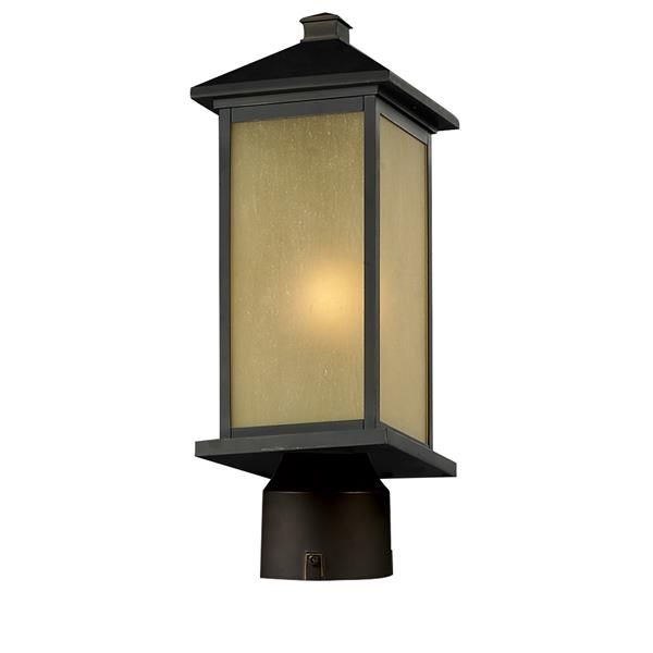 Z-Lite Vienna Outdoor Post Light - Oil Rubbed Bronze - 8-in x 21.5-in