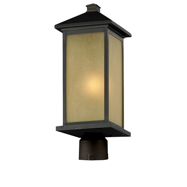 Z-Lite Vienna Outdoor Post Light - Oil Rubbed Bronze - 9.5-in x 23.5-in