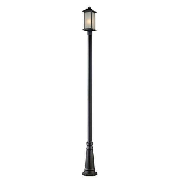 Z-Lite Vienna Outdoor Post Light - Black - 10-in x 115.25-in