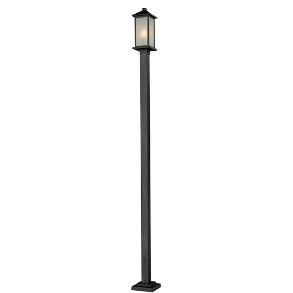 Z-Lite Vienna Outdoor Post Light - Black - 9.25-in x 115-in