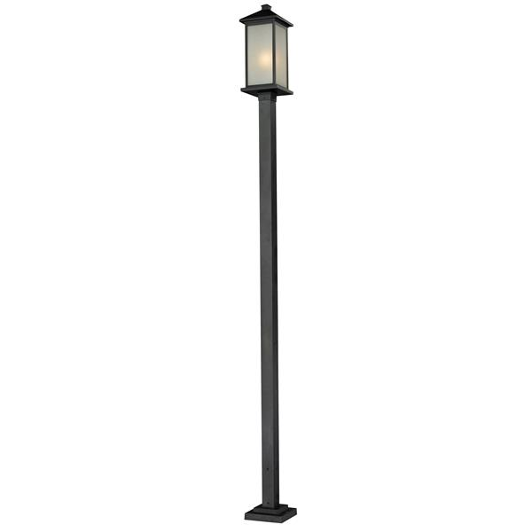 Z-Lite Vienna Outdoor Post Light - Black - 9.25-in x 117-in