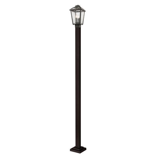 Z-Lite Bayland 3 Light Outdoor Post Light - Bronze - 9.25-in x 111-in
