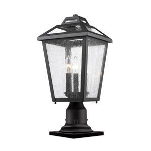 Bayland 3 Light Outdoor Pier Mount Light - Black - 9