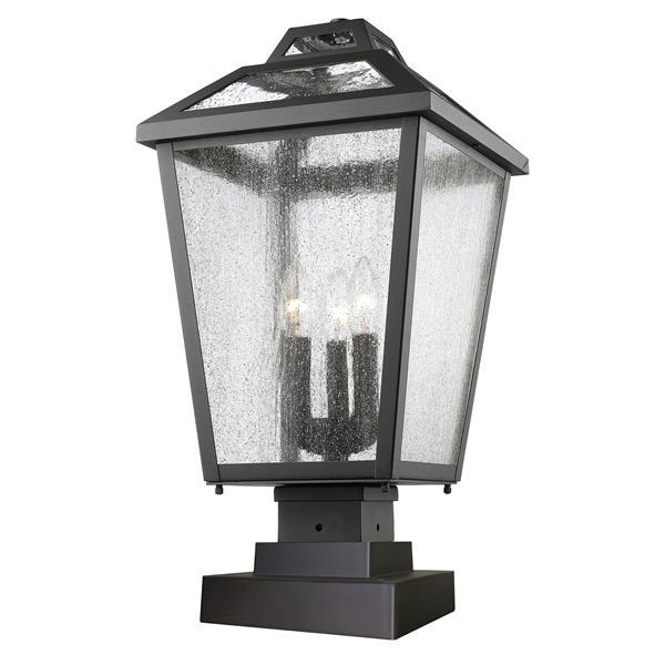 Z-Lite Bayland 3 Light Outdoor Pier Mount Light - Black