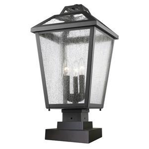 Luminaire extérieur à 3 lumières sur socle Bayland, Noir