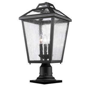 Z-Lite 3 Light Outdoor Pier Mount Light - Black - 11-in x 22.25-in