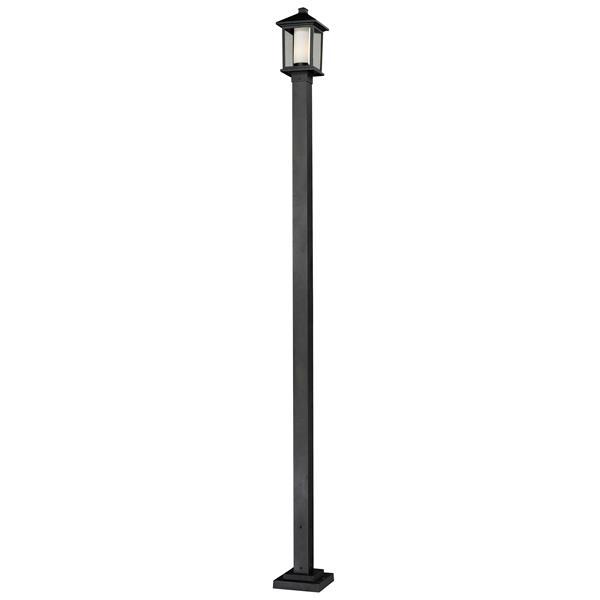 """Luminaire extérieur sur poteau Mesa, Noir,  9.25""""x109"""""""
