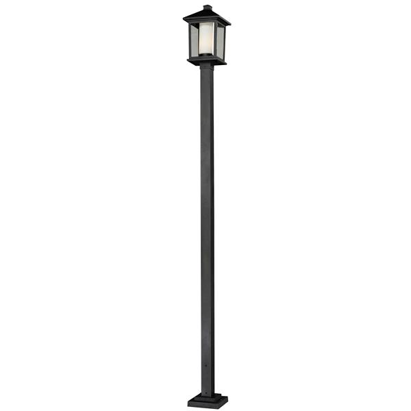 Z-Lite Mesa Outdoor Post Light - Black - 9.5-in x 112-in