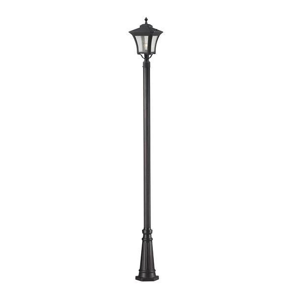 Luminaire extérieur sur poteau à 1 lumière Waterdown, Noir