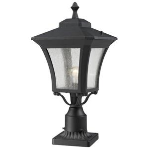 Z-Lite Waterdown Outdoor Post Mount Light Sand Black - 10.12-in x 25.5-in