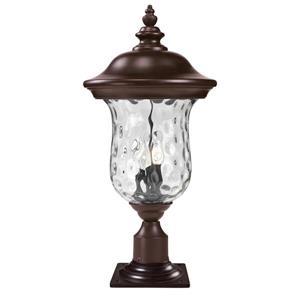 """Luminaire extérieur sur socle, Bronze, 12.38""""x25.5"""""""