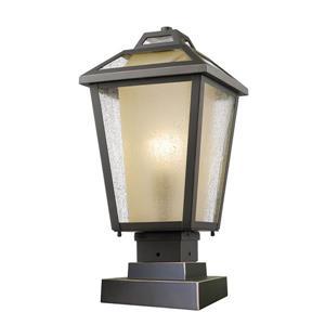 """Luminaire extérieur sur socle Memphis, Bronze, 9""""x18.5"""""""