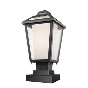 Z-Lite Memphis Outdoor Pier Mount Light - Black - 9-in x 18.5-in