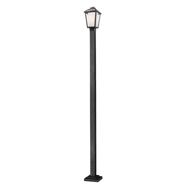 """Luminaire extérieur sur poteau Memphis, Noir, 9.25""""x111"""""""