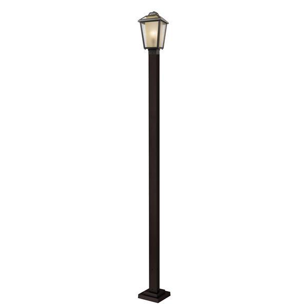 Z-Lite Memphis Outdoor Post Light - Bronze - 9.25-in x 111-in