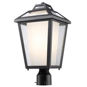 """Luminaire extérieur pour poteau Memphis, Noir, 9""""x17.5"""""""