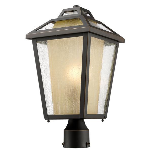 """Luminaire extérieur pour poteau Memphis, Bronze, 9""""x17.5"""""""