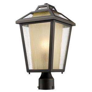 Z-Lite Memphis Outdoor Post Mount Light - Bronze - 9-in x 17.5-in