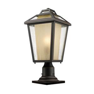 Luminaire extérieur sur socle Memphis, Bronze, 9