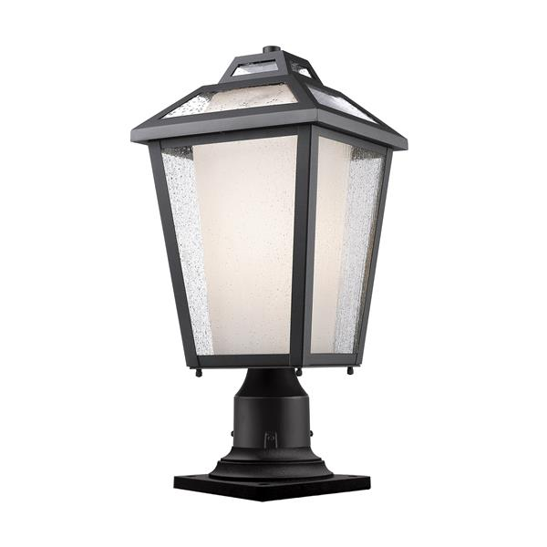 Z-Lite Memphis Outdoor Pier Mount Light - Black - 9-in x 19.25-in