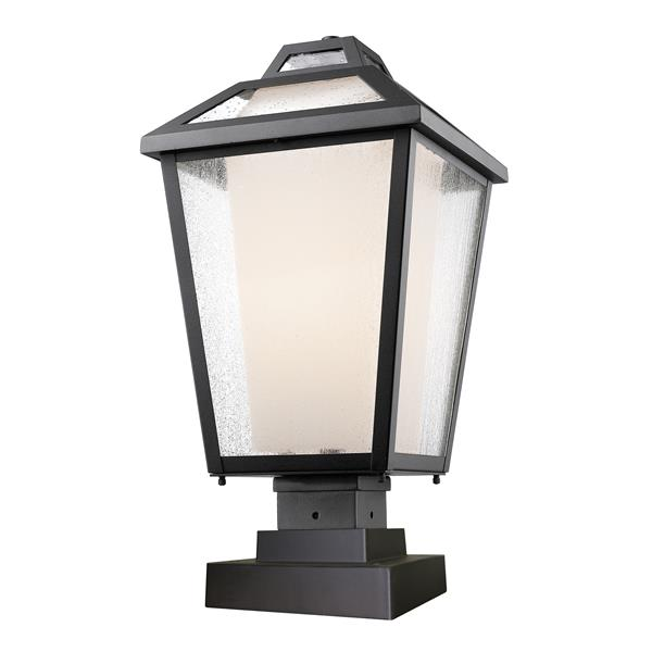 Z-Lite Memphis Outdoor Pier Mount Light - Black - 11-in x 21.5-in