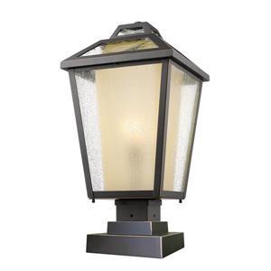 """Luminaire extérieur sur socle Memphis, Bronze, 11""""x21.5"""""""