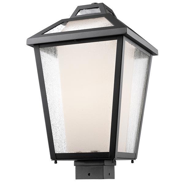 Z-Lite Memphis Outdoor Post Mount Light - Black - 11-in x 19-in