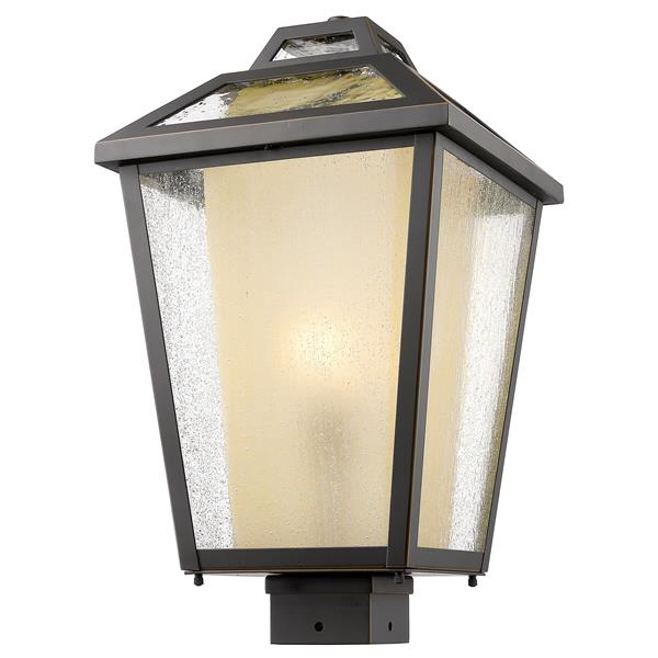 Z-Lite Memphis Outdoor Post Mount Light - Bronze - 11-in x 19-in