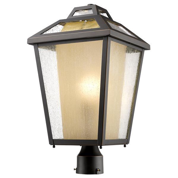 Z-Lite Memphis Outdoor Post Mount Light - Bronze - 11-in x 19-in